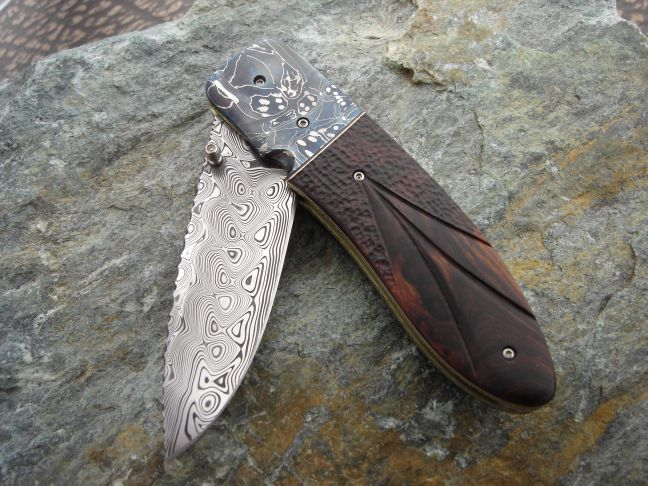 Mosaic Stainless Damascus Folder